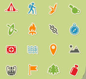 Day of skouts icon set Royalty Free Stock Photography