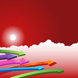Day Sky Scene - Arrows Stock Photography