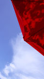 Day sky with umbrella Royalty Free Stock Images