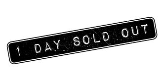 1 day sold out rubber stamp Stock Image