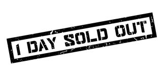 1 day sold out rubber stamp Royalty Free Stock Photo
