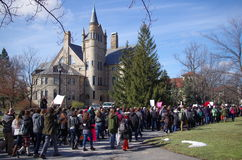 Day of Solidarity at Oberlin College. Recently, at Oberlin College, there have been a number of racist and homophobic incidents of hate speech. Classes have been Royalty Free Stock Image