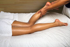 DAY SPA CALF AND FOOT MASSAGE Royalty Free Stock Photography
