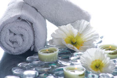 Day Spa with flowers candles Stock Image