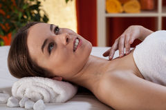Day at spa. Gorgeous woman having a nice day at spa Royalty Free Stock Photo