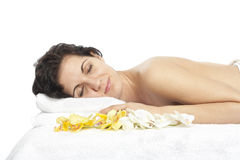 Day spa massage Stock Photo