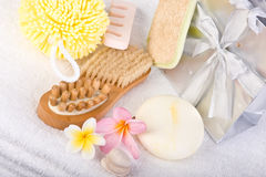 Day Spa Pedicure Products Royalty Free Stock Images