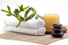 Day spa setting Stock Photo