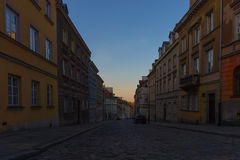 Day starts on the street Royalty Free Stock Photos