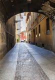 Day street  in Parma, Italy,. Bologna aria Royalty Free Stock Photos