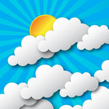 Day with sun and cloud. Stock Photography