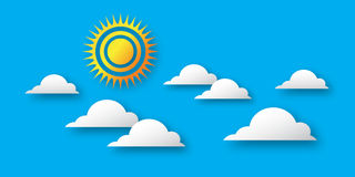 Day with sun and cloud. Royalty Free Stock Image