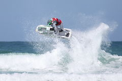 Day Three - Rippin H2O Jetski Championship at Fistral Beach in N. Fistral Beach, Newquay, Cornwall, UK. 7th June, 2015. Professional jestski riders compete at Royalty Free Stock Image