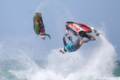 Day Three - Rippin H2O Jetski Championship at Fistral Beach in N. Fistral Beach, Newquay, Cornwall, UK. 7th June, 2015. Professional jestski riders compete at Royalty Free Stock Images