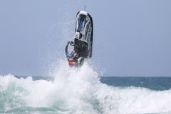 Day Three - Rippin H2O Jetski Championship at Fistral Beach in N. Fistral Beach, Newquay, Cornwall, UK. 7th June, 2015. Professional jestski riders compete at Stock Photography