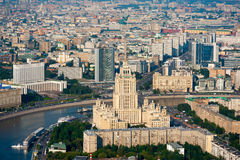 Day-time aerial view of Moscow, Russia. Royalty Free Stock Photo