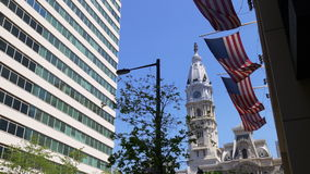 Day time american flag philadelphia city hall view 4k pennsylvania usa. Usa day time american flag philadelphia city hall view 4k pennsylvania stock footage