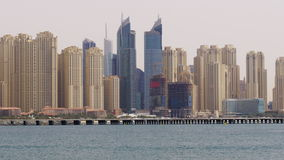 Day time dubai marina consruction buildings 4k uae stock video footage