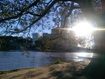 Yarra river. Day time has nearly gone and night time will come soon Stock Image