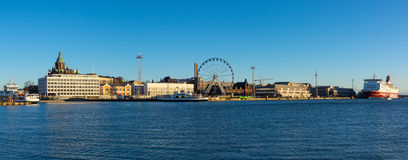 Day time Helsinki harbor Royalty Free Stock Photos