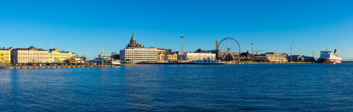 Day time Helsinki harbor Royalty Free Stock Image