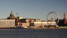 Day time Helsinki harbor stock video