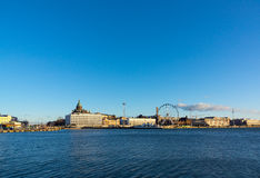 Day time Helsinki harbor Royalty Free Stock Photography