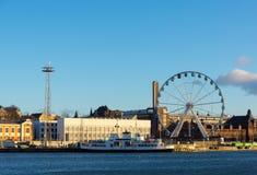 Day time Helsinki harbor Stock Photography