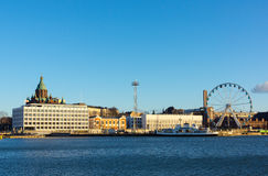Day time Helsinki harbor Stock Image
