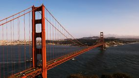 Day time lapse of the golden gate bridge and shipping. In San Francisco, California stock footage