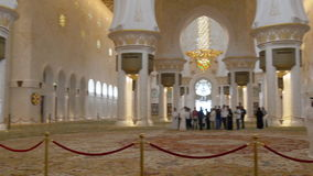 Day time main uae mosque inside hall 4k stock footage