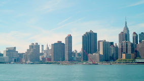 Day time manhattan panorama 4k time lapse from new york stock video footage