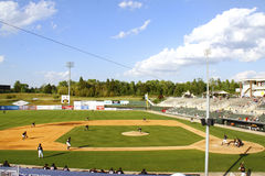 Day time Minor League baseball stadium Royalty Free Stock Photos