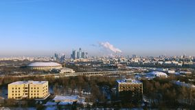 Day time Moscow city panorama stock footage