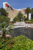 A day time view of the Mirage hotel in Las Vegas. Stock Photos