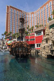 A day time view of Treasure Island in Las Vegas. Stock Photo
