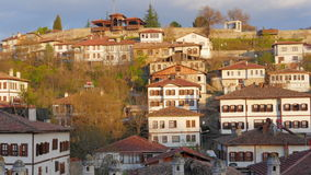 Day Timelapse, Traditional Ottoman Anatolian Village, Safranbolu, Turkey, zoom in stock footage