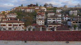 Day Timelapse, Traditional Ottoman Anatolian Village, Safranbolu, Turkey, zoom out stock video