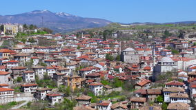 Day Timelapse, Traditional Ottoman Anatolian Village, Safranbolu, Turkey, zoom out stock video footage