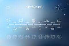 Day Timeline Royalty Free Stock Photos