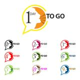 Day to go vector icon with bubble. EPS file available. see more images related stock illustration
