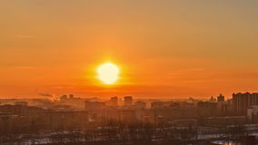 From day to night. City wakes up. Time Lapse. Video stock video footage