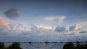 Day to Night Sea Cloud. Pattalung Thailand stock footage