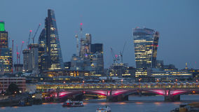Day to Night Time-Lapse of the City of London. Day to Night Time Lapse of the City of London, Hyper-lapse, Motion Time-Lapse. Close up stock video