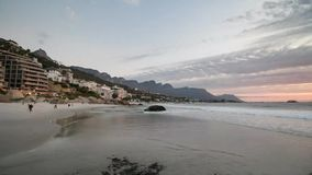 Time lapse of Clifton beach in Cape town South Africa stock footage