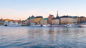 Day to Night Time lapse video of Stockholm city in Sweden stock video footage