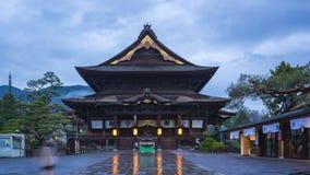 Day to Night time lapse video of Zenkoji temple landmark in Nagano, Japan timelapse 4K.  stock video