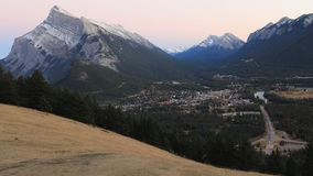 Day to night timelapse over Banff, Canada 4K. A Day to night timelapse over Banff, Canada 4K stock video