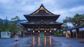 Day to night timelapse of Zenkoji buddhist temple in Nagano, Japan.  stock video footage