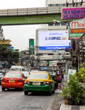 Day traffic on streets in the center of Bangkok Stock Photography